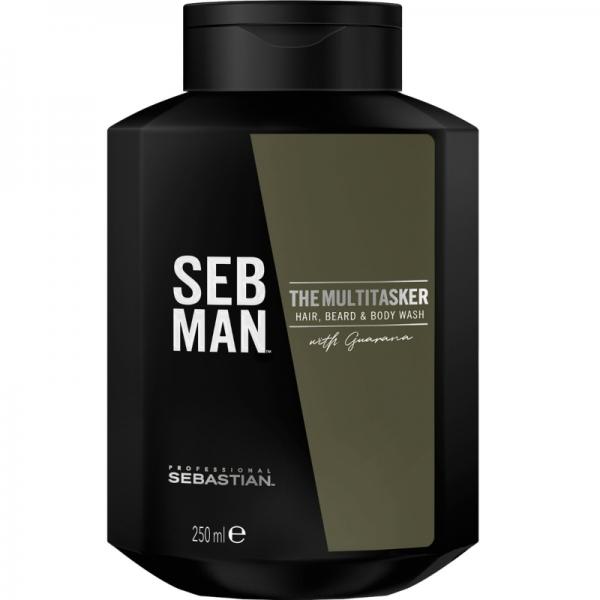SEB MAN The Multitasker - 3in1 - Hair, Beard & Body Wash 250ml