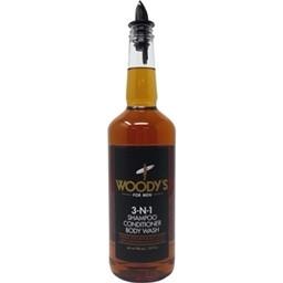 Woody`s Body Wash 3 in 1 Shampoo Conditioner 946ml
